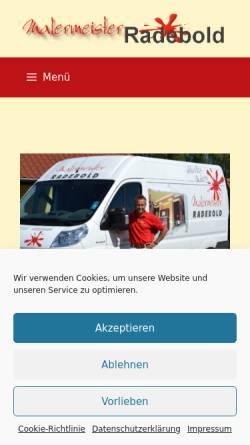Vorschau der mobilen Webseite www.malermeister-radebold.de, Malermeister Radebold