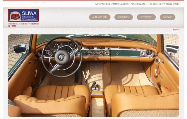 Vorschau von www.sliwa-autosattlerei.de, Sliwa Autosattlerei und Fahrzeugausstatter GmbH