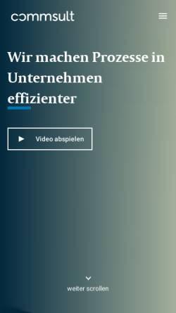 Vorschau der mobilen Webseite www.commsult.de, Commsult AG