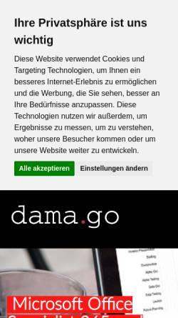 Vorschau der mobilen Webseite www.damago.de, Damago GmbH