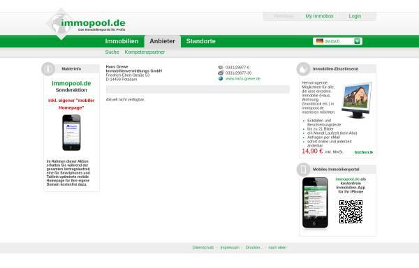Vorschau von www.immopool.de, Hans Grewe Immobilienbetreuung
