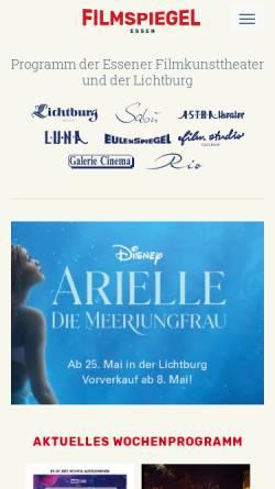 Vorschau der mobilen Webseite www.essener-filmkunsttheater.de, Essener Filmkunsttheater GmbH