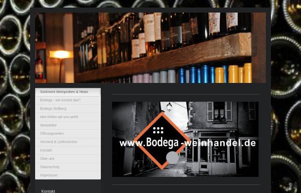 Vorschau von www.bodega-weinhandel.de, Bodega Weinhandel