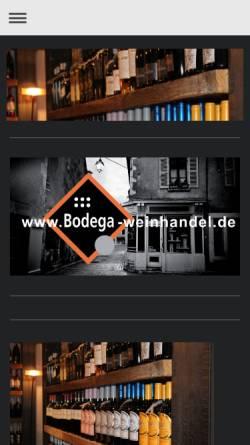 Vorschau der mobilen Webseite www.bodega-weinhandel.de, Bodega Weinhandel
