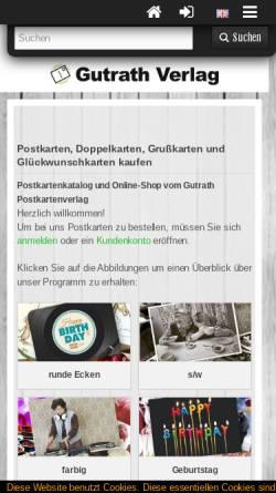 Vorschau der mobilen Webseite www.gutrath.com, Gutrath Verlag GmbH