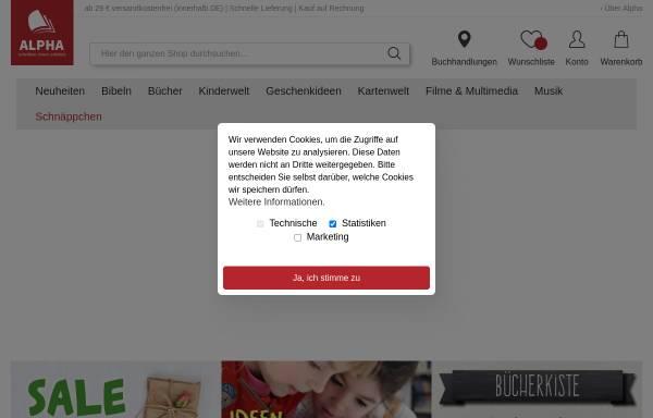 Vorschau von www.alpha-dortmund.de, ALPHA - Buchhandlung