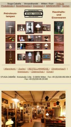 Vorschau der mobilen Webseite hytta.de, Haushalts- und Eisenwaren Stuga-Cabana