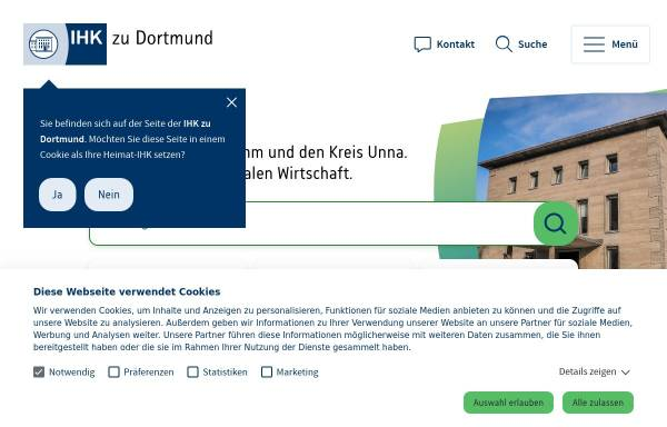 Vorschau von www.dortmund.ihk24.de, Industrie- und Handelskammer