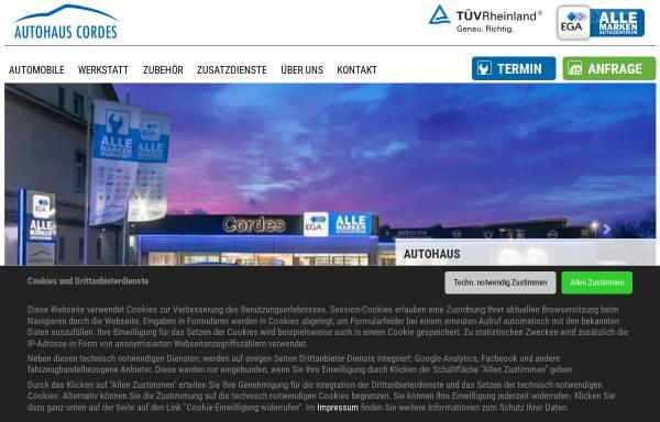 Vorschau von www.auto-cordes.de, Autohaus Cordes