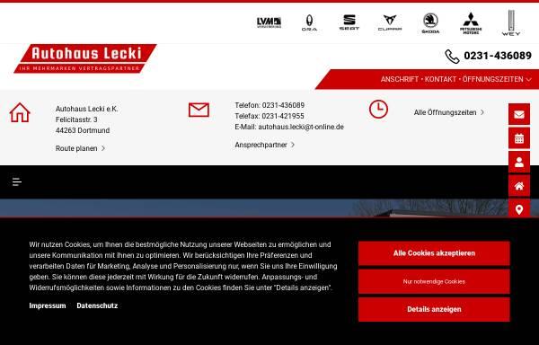Vorschau von www.autohaus-lecki.de, Autohaus Lecki