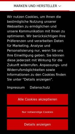 Vorschau der mobilen Webseite www.autohaus-lecki.de, Autohaus Lecki