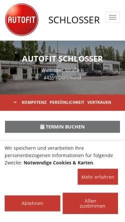 Vorschau der mobilen Webseite www.schlosser-kfz.de, Autohaus Paul Schlosser GmbH
