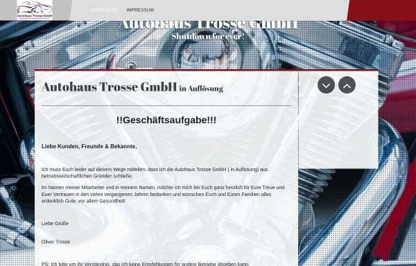 Vorschau von www.trosse.de, Autohaus Trosse
