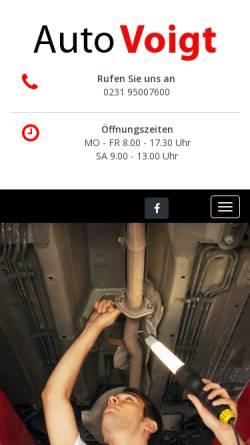 Vorschau der mobilen Webseite www.auto-voigt.de, Autohaus Voigt