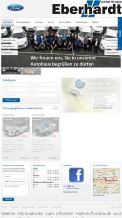 Vorschau der mobilen Webseite www.ford-eberhardt.de, Eberhardt Automobile GmbH & Co KG