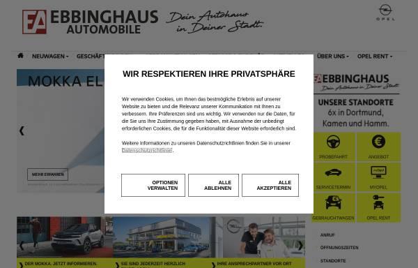 Vorschau von www.opel-dortmund.de, Ebbinghaus Automobile GmbH