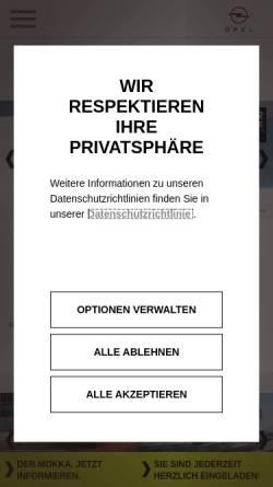 Vorschau der mobilen Webseite www.opel-dortmund.de, Ebbinghaus Automobile GmbH