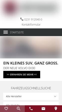 Vorschau der mobilen Webseite www.premiumcars.de, Premium Cars Peters