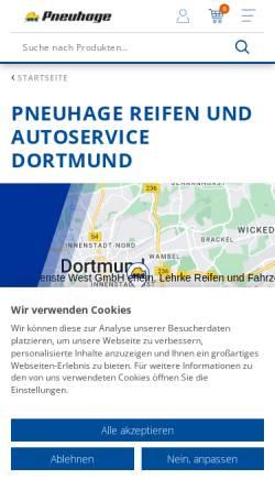 Vorschau der mobilen Webseite www.reifen-lehrke.de, Reifen Lehrke