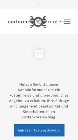 Vorschau der mobilen Webseite gebrauchtmotoren-austauschmotor.de, Saab Zentrum