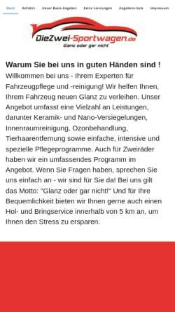 Vorschau der mobilen Webseite www.die2.eu, Die Zwei Sportwagen Tuning