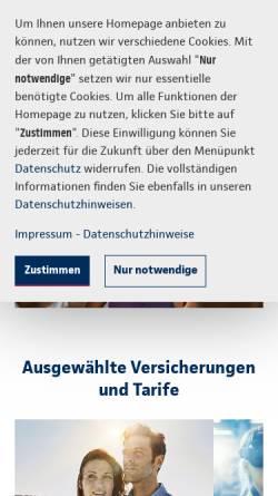 Vorschau der mobilen Webseite www.continentale.de, Continentale Versicherungsverbund