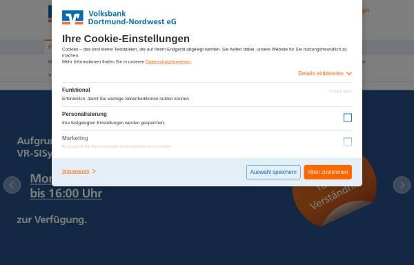 Vorschau von www.vbdonw.de, Volksbank Dortmund-Nordwest eG