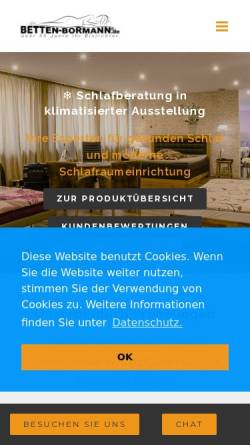 Vorschau der mobilen Webseite www.betten-bormann.de, Betten Bormann e.K.