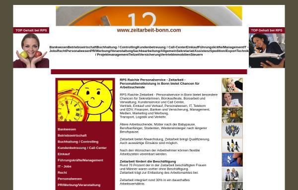 Vorschau von www.zeitarbeit-bonn.com, Zeitarbeit Bonn - RPS Raichle Personal Service GmbH