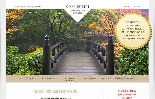 Vorschau von www.bestattungen-spannuth.de, Beerdigungsinstitut Spannuth