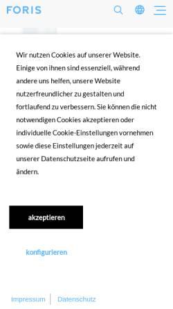 Vorschau der mobilen Webseite www.foris.de, FORIS AG