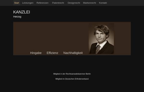 Vorschau von www.kanzlei-herzog.de, Kanzlei Rechtsanwalt Dr. Herzog