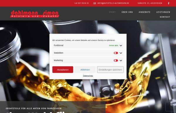 Vorschau von www.autoteile-altenessen.de, Autoteile Dahlmann und Simon