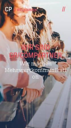 Vorschau der mobilen Webseite www.cp-compartner.de, CP/COMPARTNER Agentur für Kommunikation GmbH