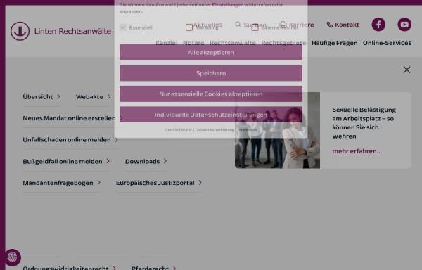 Vorschau von www.linten.de, Linten Rechtsanwälte