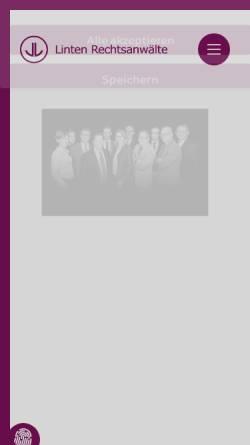 Vorschau der mobilen Webseite www.linten.de, Linten Rechtsanwälte