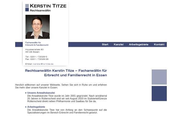 Vorschau von www.ra-titze.de, Titze & Rodriguez, Rechtsanwältinnen