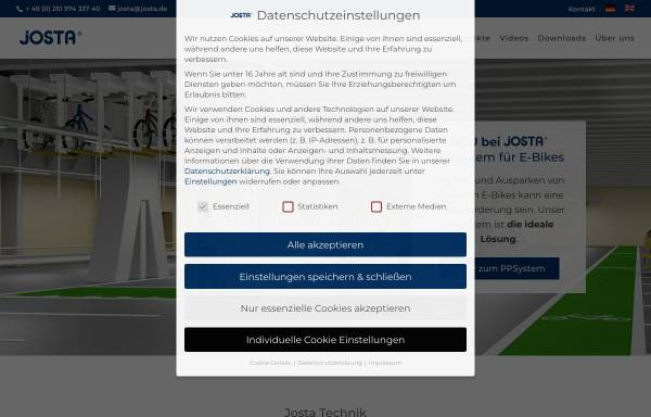 Vorschau von www.josta.de, Josta GmbH