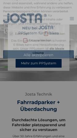 Vorschau der mobilen Webseite www.josta.de, Josta GmbH