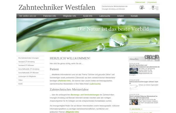 Vorschau von www.zti-muenster.de, Zahntechniker-Innung Münster