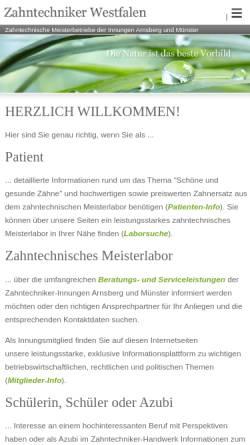 Vorschau der mobilen Webseite www.zti-muenster.de, Zahntechniker-Innung Münster