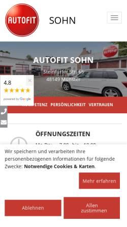 Vorschau der mobilen Webseite www.sohn-autofit.de, Autofit Otto Sohn jun. GmbH