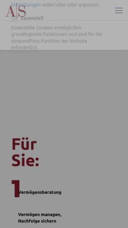 Vorschau der mobilen Webseite www.as-finanz.de, AS Finanzdienstleistungen GmbH