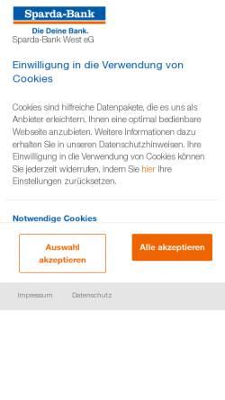 Vorschau der mobilen Webseite www.sparda-ms.de, Sparda-Bank Münster eG