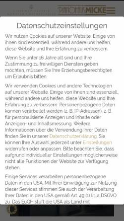 Vorschau der mobilen Webseite www.piano-micke.de, Pianohaus Micke GmbH