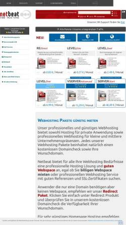 Vorschau der mobilen Webseite www.netbeat.de, NetBeat GmbH