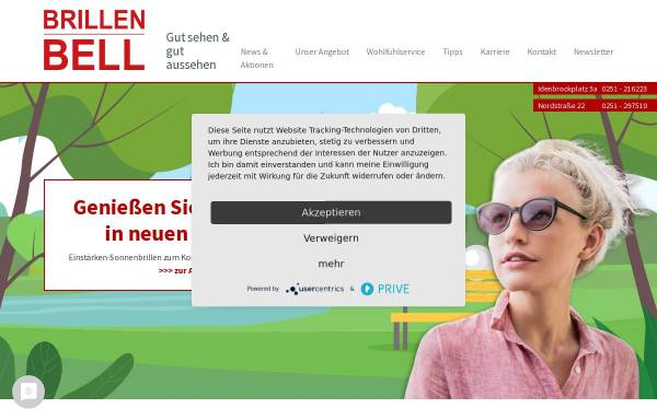 Vorschau von www.brillen-bell.de, Brillen Bell, Inhaberin Karin Bell