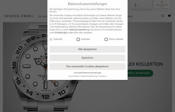 Vorschau von www.oeding-erdel.de, Juwelier Oeding-Erdel GmbH & Co. KG