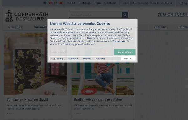 Vorschau von www.coppenrath.de, Coppenrath Verlag GmbH & Co. KG, Die Spiegelburg & Verlag W. Hölker GmbH