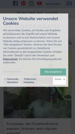 Vorschau der mobilen Webseite www.coppenrath.de, Coppenrath Verlag GmbH & Co. KG, Die Spiegelburg & Verlag W. Hölker GmbH
